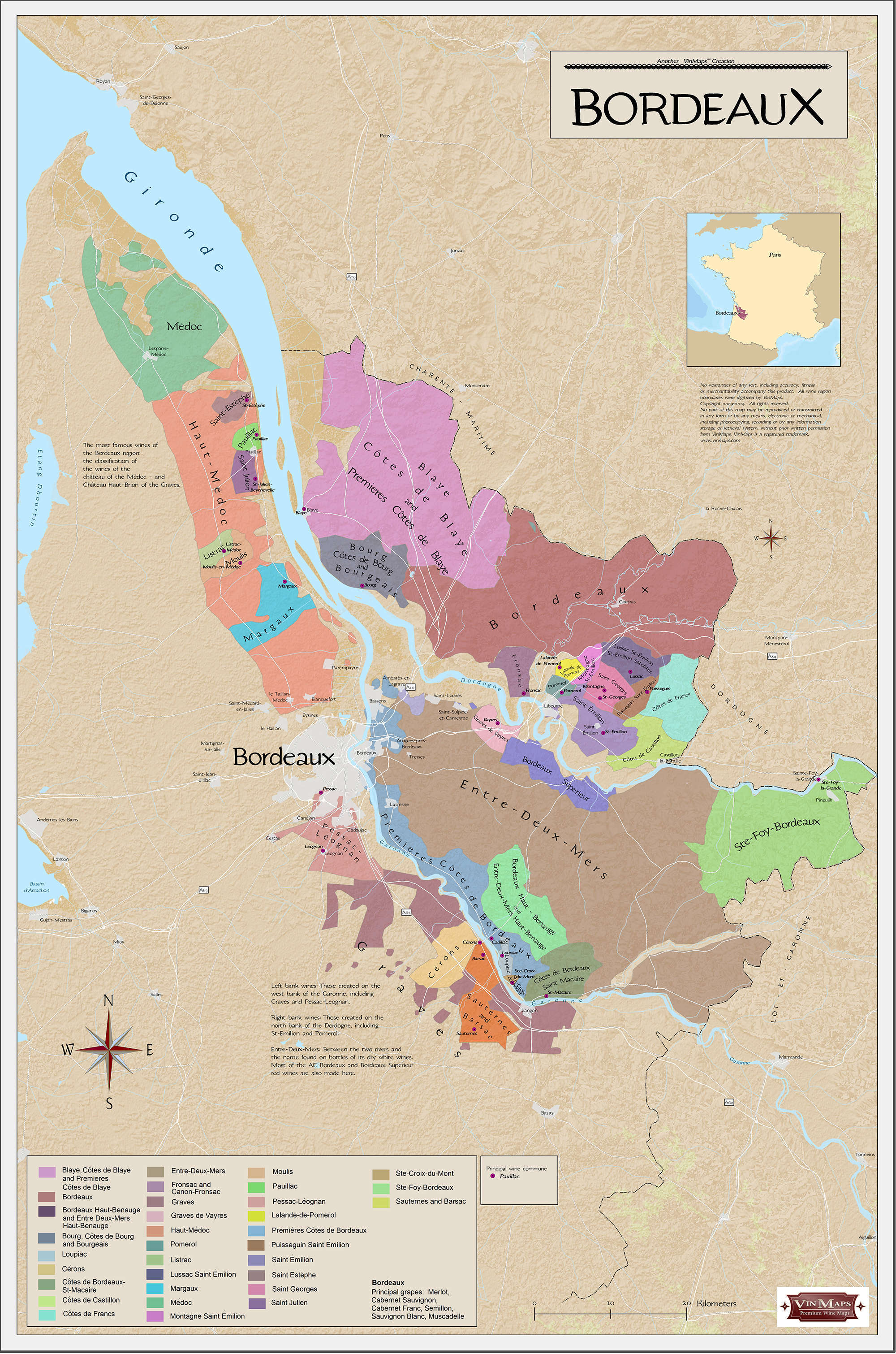 Bordeaux Wine Regions