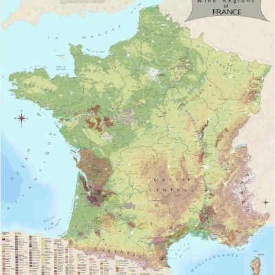 France Wine Region Map