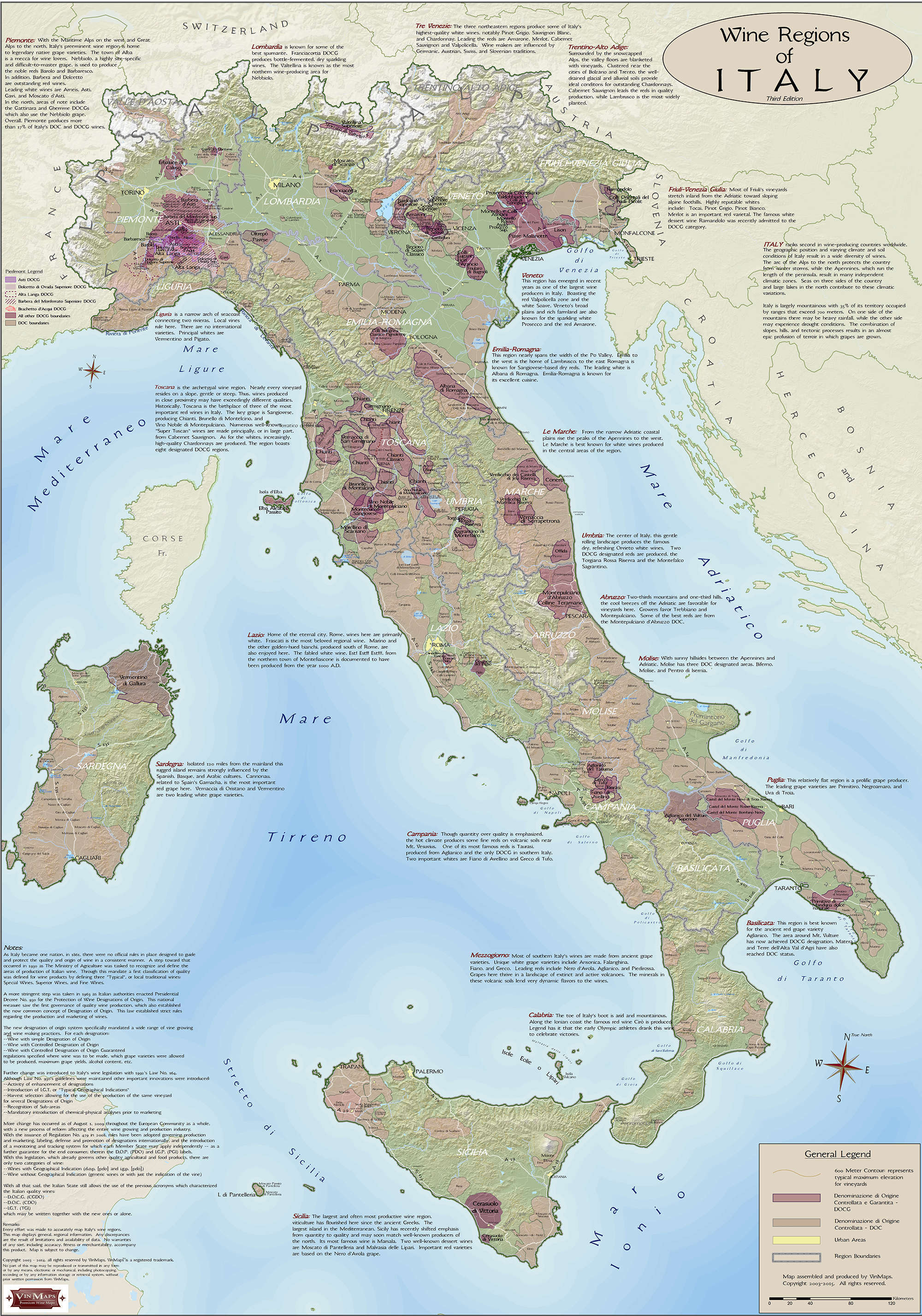Wine Regions Italy Map.Italy Wine Regions Map Vinmaps