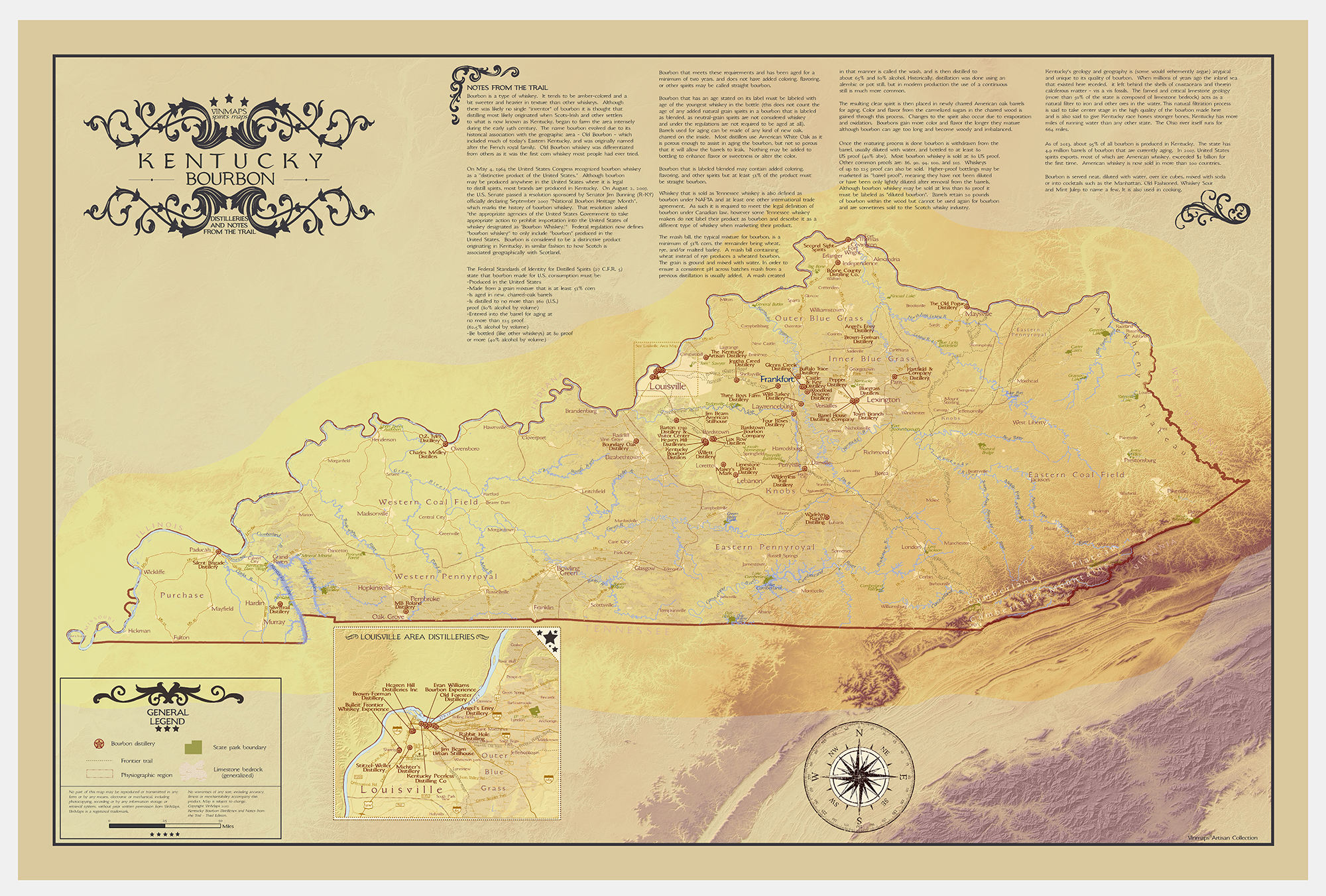 kentucky bourbon trail map with Kentucky Bourbon Distilleries And Notes From The Trail on Appalachen Blue Ridge Parkway Bourbon Trail Motorradtour Usa in addition Lexington Map Print Modern Map Art further Maps further Map Of Virgin Islands And Puerto Rico Download Map Puerto Rico And Virgin Islands further Prweb12592650.