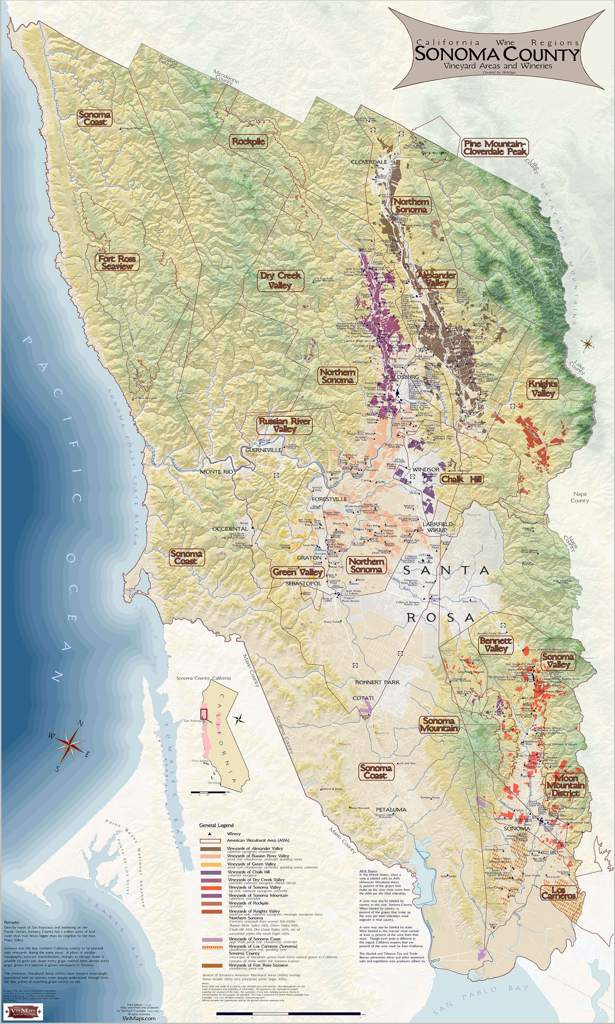 California wine regions of sonoma county for California wine