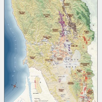 Sonoma Wine Country Map