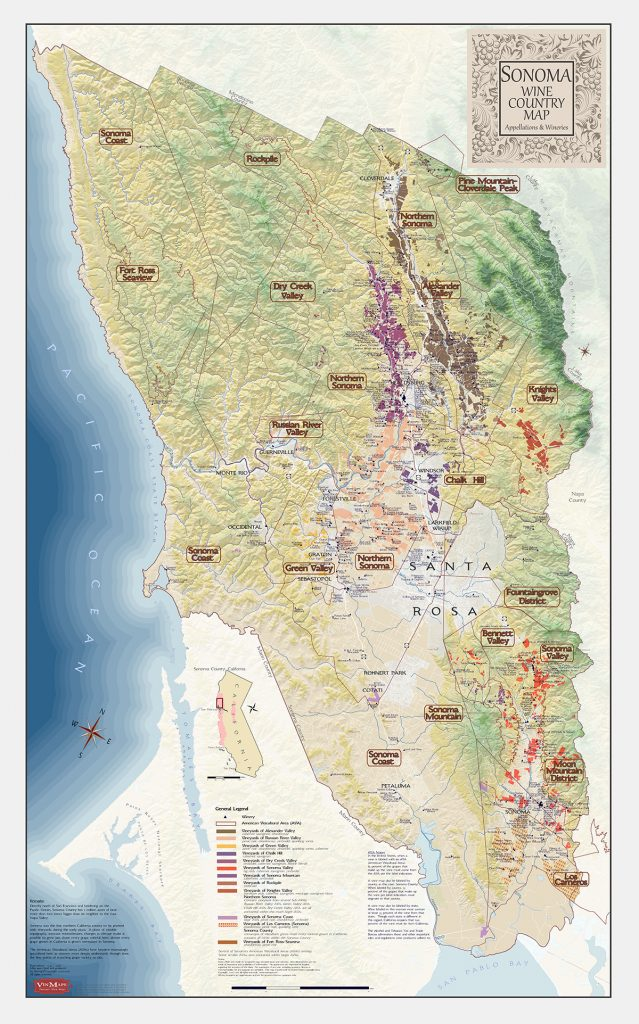 California Wine Regions Of Sonoma County