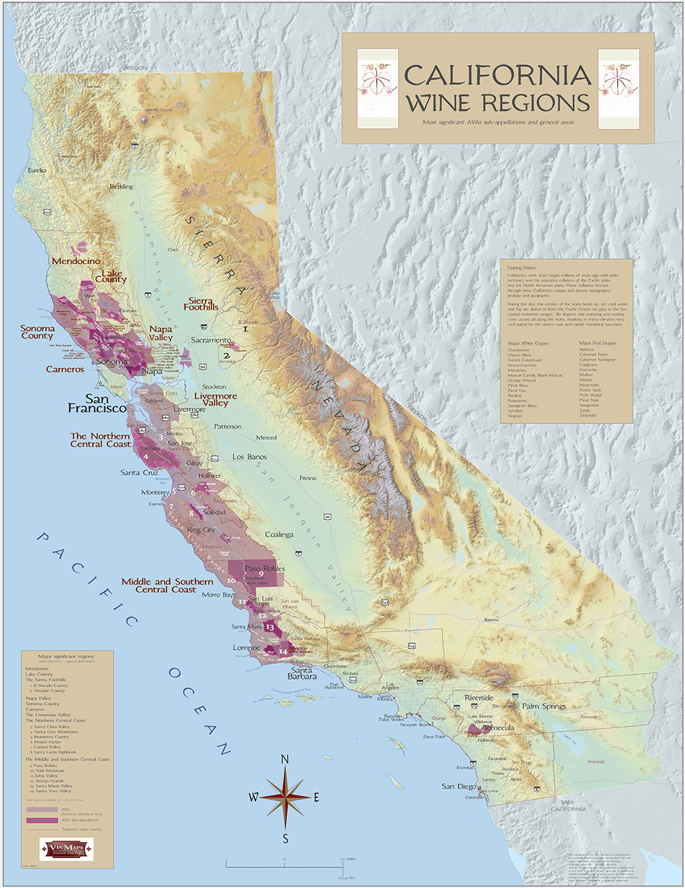 California wine regions for California wine