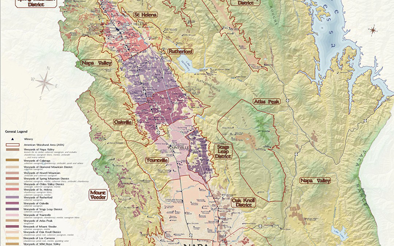 Napa Valley Wine Map Wine Enthusiast Autos Post