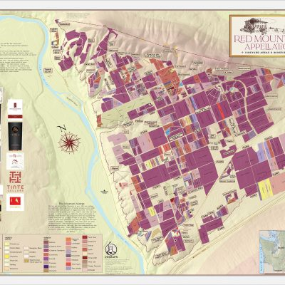 Red Mountain Appellation Vineyards & Wineries Map - 8th Edition