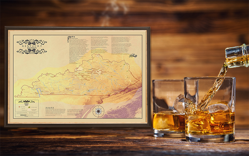 Kentucky Bourbon Map