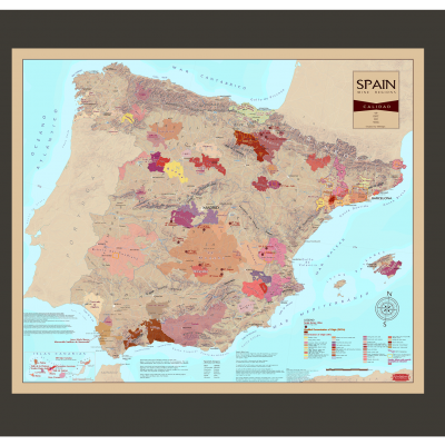 Wine Regions of Spain - Framed