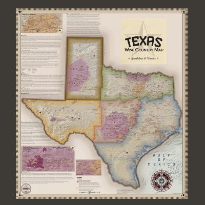Framed Texas Map