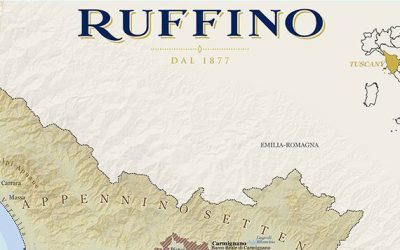 VinMaps Creates Custom Wine Map highlighting Tuscany Wine Regions for Ruffino Wines.