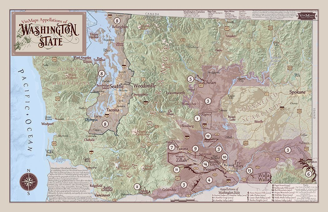 photograph relating to Printable Map of Washington State named Appellations of Washington Nation