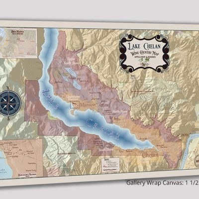 Lake Chelan Wine Country Map – Appellation & Wineries - Gallery Wrap