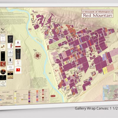 Red Mountain Wine Map