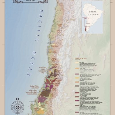 Wine Regions of Chile Map