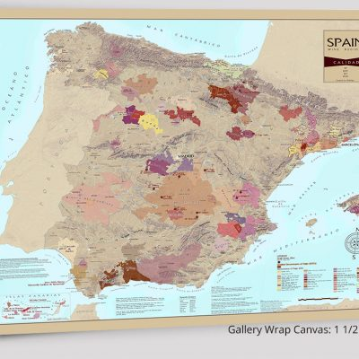 Wine regions of spain on canvas